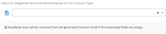Create Contract with eNegotiate Draft