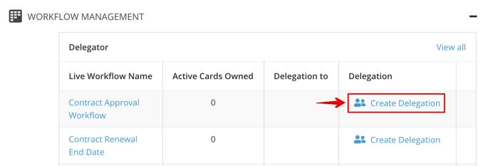 Create Delegation