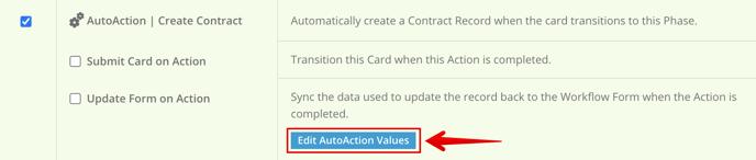 Edit AutoAction Values