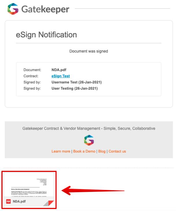 eSign Attachment