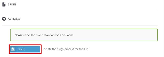 eSign Start Button
